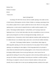 Speak Up Compare and Contrast Essay