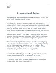 Persuasive speech on police misconduct