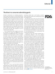 The Lancet Editorial's The Direct-to-Consumer Advertising Genie
