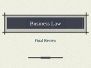 Business Law Final Review
