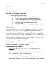 Study Guide sheet chapters 5 thru 9
