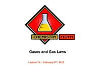 L19 Gases and Gas Laws