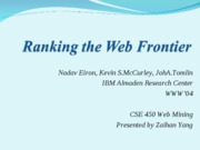 Ranking-the-Web-Frontier