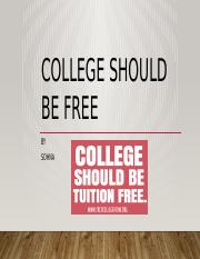College should be free