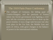 I. The 1919 Paris Peace Conference