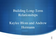 Chapter 14: Building Long-Term Relationships