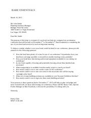 BA 200 Routine Business Letter
