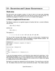 10 Linear Recurrences