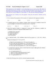 Practice Questions(Ch3,12,13)