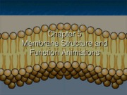 Unit II Ch5 Membranes Animations