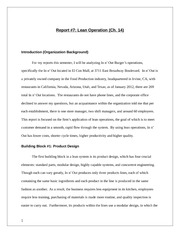 Chapter 14 Operational Analysis Report