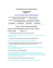 ACT 6692 Module 7 Lecture Questions