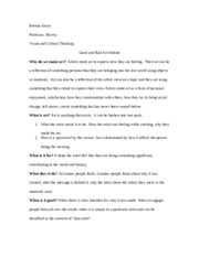 Art Research Paper-Outline