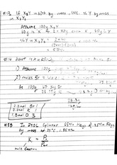 CHEM 122 Fall 2014 Stoicheometry Examples Lecture Notes