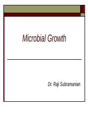 BIO 150 - Microbial Growth