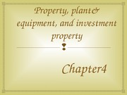 PP&E, INVESTMENT PROPERTY