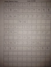 Chinese Character Order of Strokes