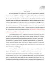 Paper Topic Proposal on Social Class