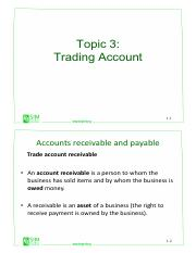 Topic 3 - Trading Account (1)