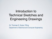 Introduction to Technical sketches and engineering drawings