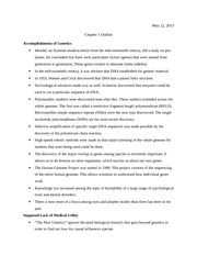 Accomplishments of Genetics - Notes