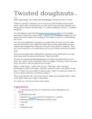 Twisted doughnuts꽈배기.docx