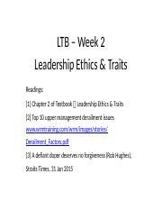LTB+-+Leadership+Traits++Ethics+(Ch+2)+-+HANDOUT