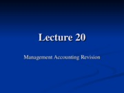 Accounting Lecture Notes 20