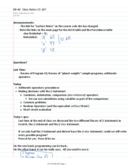 09-02  Class Notes CS 107