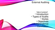 Presentation External Auditing