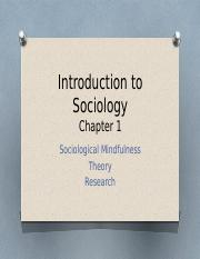Chapter 1 - Soc Mindfulness; Theory; Research