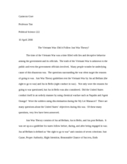 vietnam war term paper