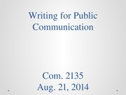 Writing for Public Communication 82114