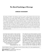 The Moral Psychology of Revenge