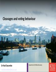 Lecture 13.17 Cleavages and voting behaviour.ppt