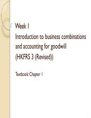 AC4303 Week 1 Business combinations and goodwill (student)