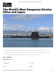 0929 The World's Most Dangerous Rivalry_ China and Japan _ The National Interest NP.pdf