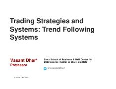 3-Trend following systems lecture