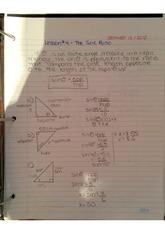 sine ratio & cosine ratio