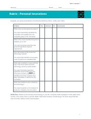U1L01Rubric-PersonalInnovations