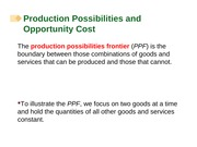 Chapter 02 Economics Growth Production Possibilities and Opportunity Cost