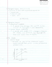 Agregate Supply Notes