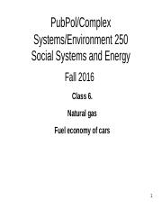 C6 2016 Sept 22  Moving stuff Part 3 Methane Fuel efficiency cars