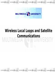 121744_Chapter 6- Wireless Local Loops and Satellite Coummunications New