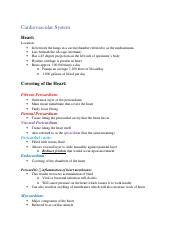 Chapter 20 - Cardiovascular System .docx