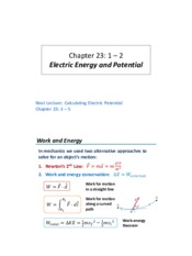 Lecture 06 - Electric Energy and Potential
