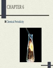 CHAPTER 06- Periodicity