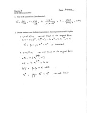 Class Exercise 3 Answers