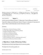 Monetary Policy_ Objectives, Targets and Roles.pdf