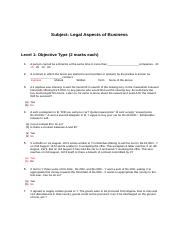Legal Aspcts of Business Question Paper with Answers.docx